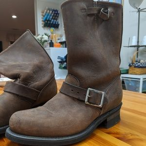 Frye Engineer Boots 12R in Gaucho Leather